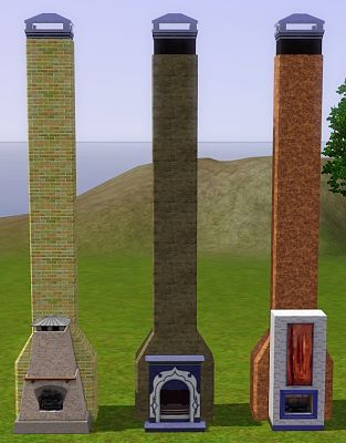 Sims 3 chimney, build, cast, mod