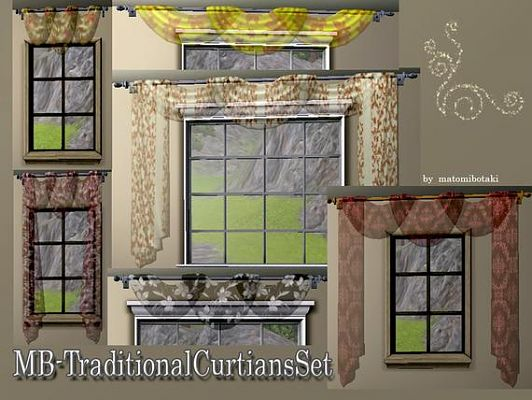 Sims 3 curtain, decor, objects