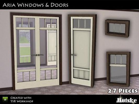 Sims 3 window, set, build, door