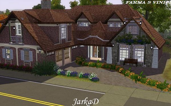 Sims 3 residential, lot, building, house, farm