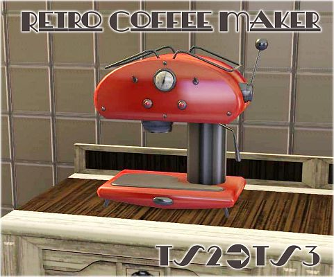 Sims 3 decor, coffee maker, retro