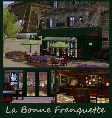 Sims 3 bar, lot, commercial