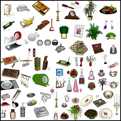 Sims 3 decor, decorations, objects, set