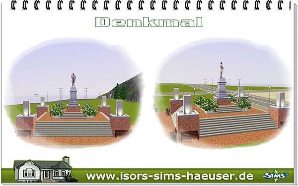 Sims 3 lot, community, monument