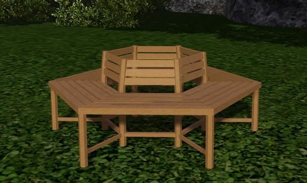 Sims 3 treebench, furniture, objects