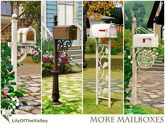 Sims 3 mailbox, decor, objects