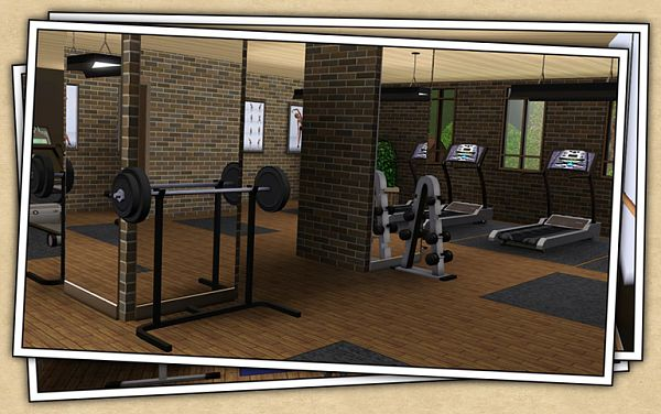 Sims 3 gymnasium, objects