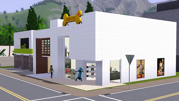 Sims 3 mall, lot, community