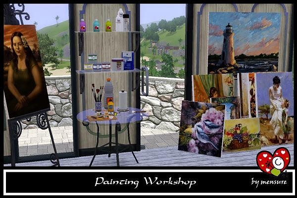 Sims 3 workshop, decor, objects