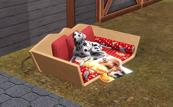 Sims 3 sofa, bed, pet, dog, object, mesh