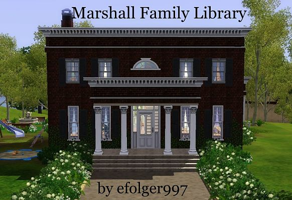 Sims 3 lot, community, library