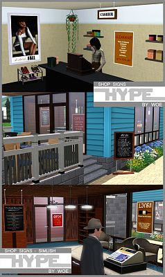 Sims 3 sign, decor, object