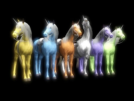 Sims 3 unicorns, animal, horse