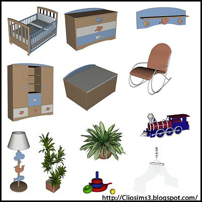 Sims 3 kidsroom, furniture, objects