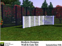 Sims 3 gate, build, objects, wall