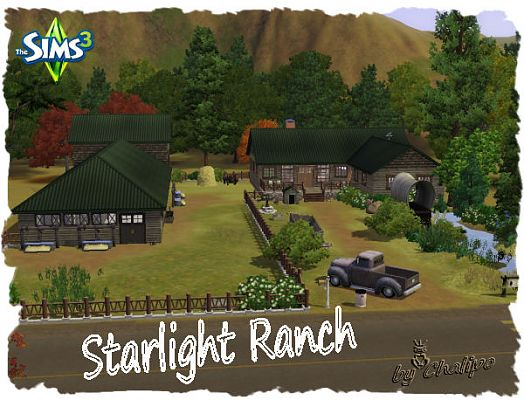 Sims 3 house, lot, residential, farm, ranch