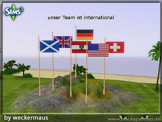 Sims 3 flag, object, decor