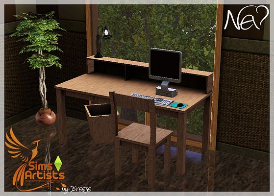 Sims 3 study, room, furniture, objects