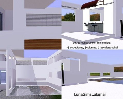 Sims 3 stairs, build, objects, wall