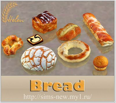 Sims 3 bread, objects, decor