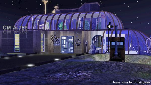 Sims 3 lot, residential, galactic