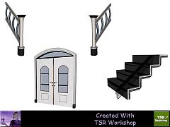 Sims 3 build, set, stairs
