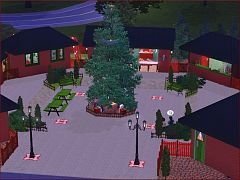 Sims 3 lot, commercial, market
