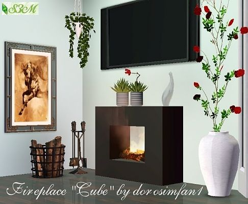 Sims 3 fireplace, outdoor, object