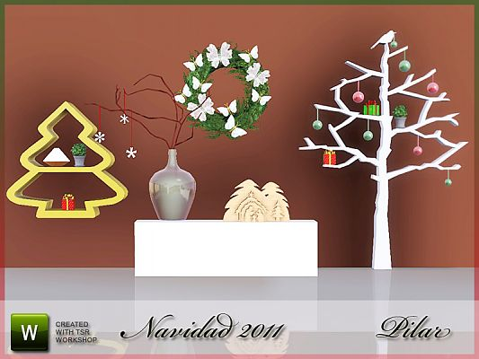 Sims 3 christmas, objects, decor