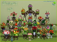 Sims 3 flowers, decor, objects, set