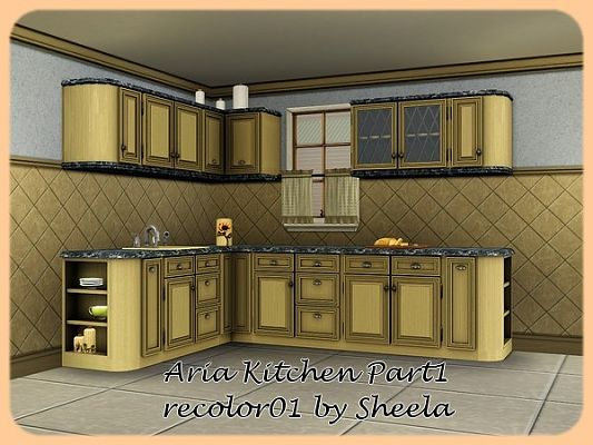 Sims 3 kitchen, furniture, set, recolor