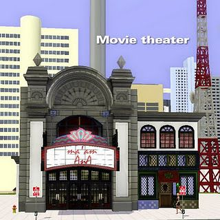 Sims 3 theatre, lot, community