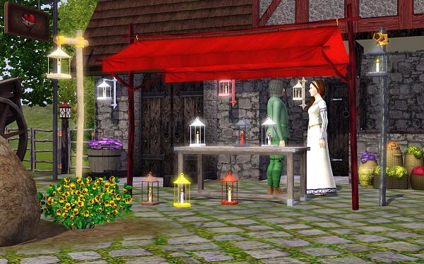 Sims 3 light, lights, lamp, medieval