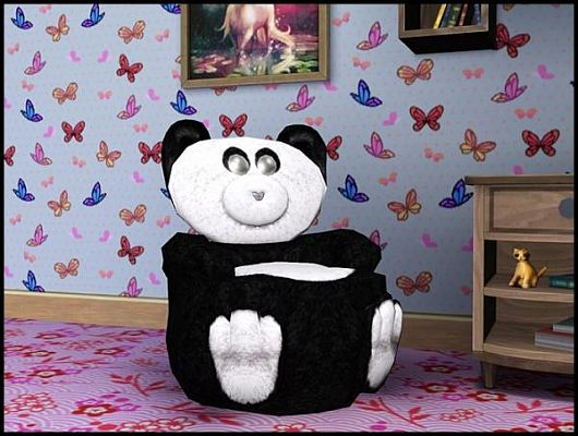Sims 3 furniture, chair, object, bear