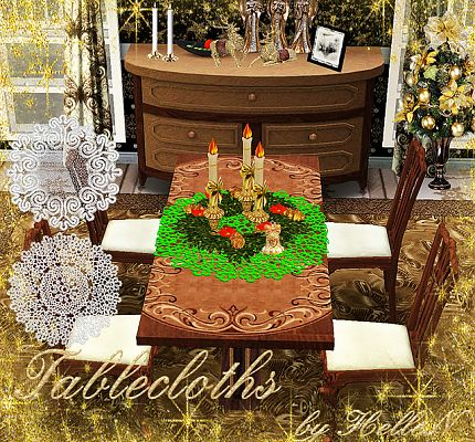Sims 3 decor, tablecloths, objects