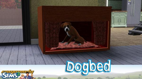 Sims 3 dog, bed, object