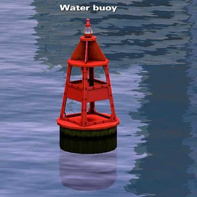 Sims 3 buoy, water, objects