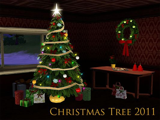 Sims 3 christmas, tree, objects, decor