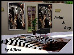 Sims 3 paint, rug, decor, paintings, posters