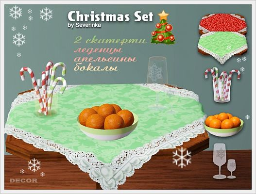 Sims 3 set, decor, objects, christmas