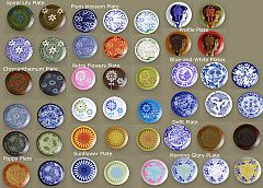 Sims 3 plates, pattern, decorative, decoration, clutter