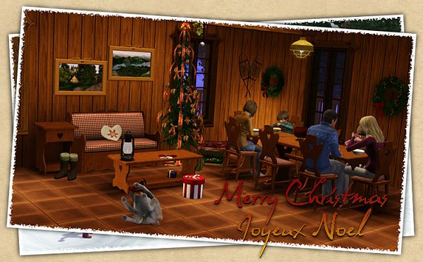 Sims 3 livingroom, furniture, objects, decor, outdoor, snowman