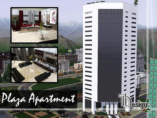 Sims 3 apartment, residential, lot, building
