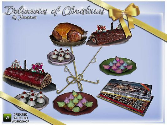 Sims 3 food, decorative, objects
