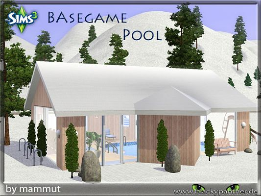 Sims 3 outdoor, swimming, pool
