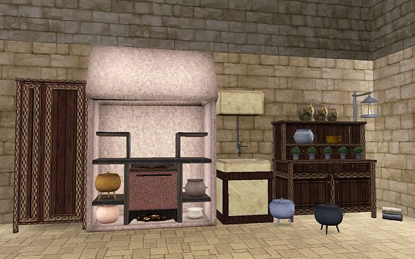 Sims 3 kitchen, furniture, set, objects, decor
