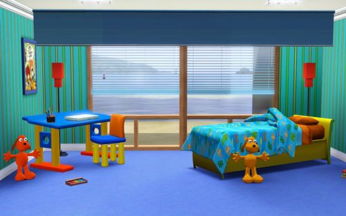 Sims 3 kids, room, objects, decor
