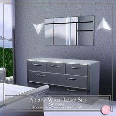 Sims 3 light, lighting, lamp, wall lamp, arrow