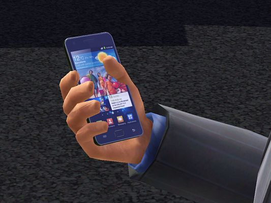 Sims 3 phone, cell, electronics, samsung