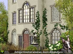 Sims 3 windows, doors, shutters, build, objects
